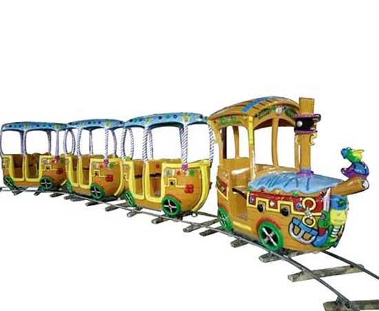 Carnival track train rides